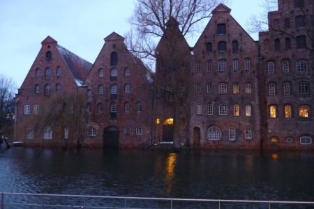 Land unter in Lübeck - Salzspeicher